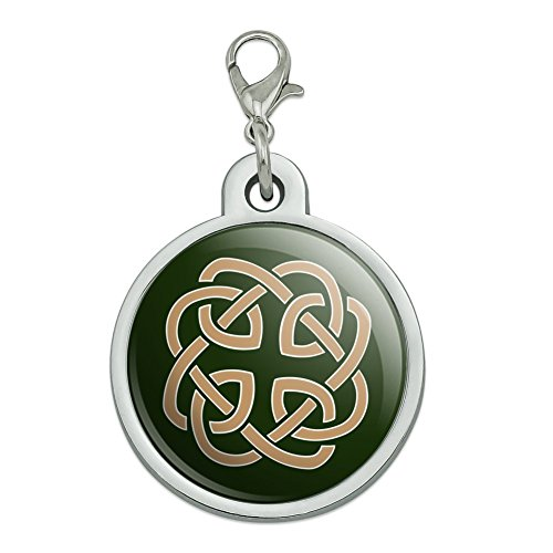 GRAPHICS & MORE Celtic Knot Love Eternity Chrome Plated Metal Pet Dog Cat ID Tag