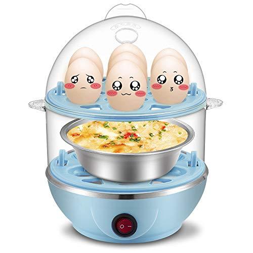 Eierkocher mit Warmhaltefunktion - Multifunktions - Automatische Mini-FrüHstüCksmaschine, Kann Eine Vielzahl Von Lebensmitteln Gleichzeitig DäMpfen, Bis Zu 21 Eier