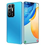 HJFGIRL Rino5 Pro+ Teléfono Móvil Android Smartphone Libre Dual SIM Pantalla 6.7' Screen Movil Barato Face ID 6800mAh Batería 8G ROM (256GB SD Expandible) Celulares,Blue-AU