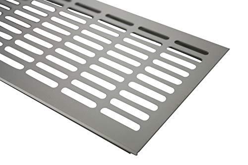 MS Beschläge ® Aluminium Lüftungsgitter Stegblech Heizungsdeckel 130mm x 1200mm verschiedene Farben (Edelstahl eloxiert - E6C31)