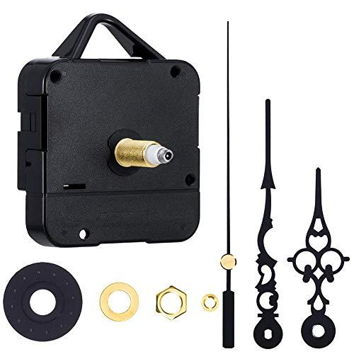 Mallalah Mecanisme Horloge Aiguilles Mouvement Remplacement de Pendule Quartz DIY Montre Réparation Outil Noir 1/4 Pouce Épaisseur Maximum de Cadran, 1/3 Pouce Longueur