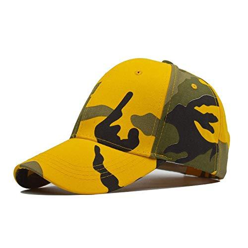 Casquette Homme Chapeau Casquette De Camouflage Extérieure Mode Pare-Soleil Casquette D'Été pour Femmes Hommes Jaune Vert Casquettes Tactiques Baseball Réglable Jaunebaseballcap
