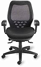 Mid-Back SXO Office Chair Seat Color: Mystic Black, Headrest: Not Included