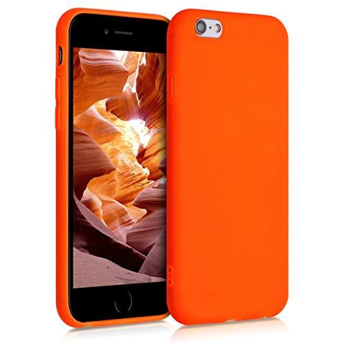 kwmobile Cover Compatibile con Apple iPhone 6 / 6S - Cover Custodia in Silicone TPU - Backcover Protezione Posteriore - Arancione Fluorescente