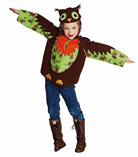 Unbekannt Niños Disfraz búho Paula Parte Superior con Capucha eulchen Búhos de Carnaval