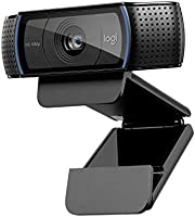 Logitech C920 HD Pro Webcam, Full HD 1080p/30fps Video Calling, Clear Stereo Audio, HD Light Correction, Works with...
