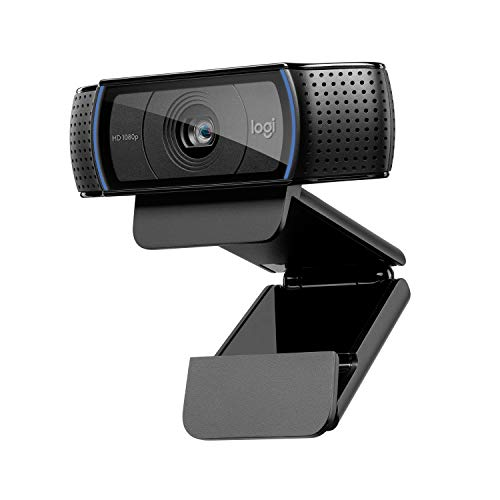 Logitech C920 HD Pro Webcam con Microfono, Videochiamate e Registrazione Full HD 1080p, Due Microfoni Audio Stereo, Nero