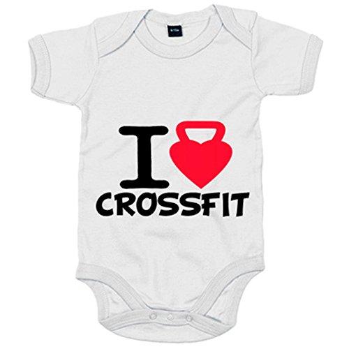 Body bebé I Love Crossfit - Blanco, Talla única 12 meses