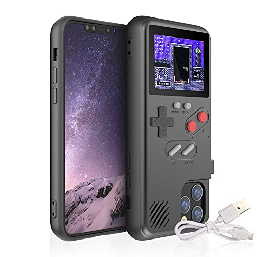 Gameboy Case for iPhone, Autbye Retro 3D Phone Case Game Console with 36 Classic Game, Color Display Shockproof Video Game Phone Case for iPhone (for iPhone 6/6s/7/8,Black)