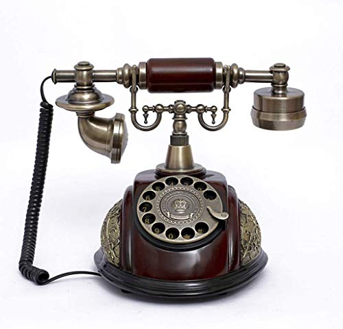 SXRDZ Retro Mobile Phone Landline Rotary Dial Telephone/Living Room Study Retro Decoration Home Office Phone Phones Home Phone