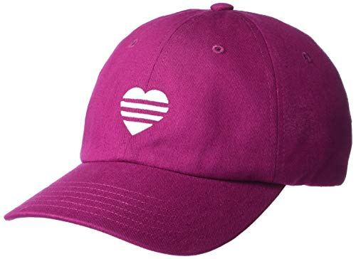 adidas Damen 3-Streifen Herz Hut, Damen, Mütze, 3 Stripe Heart Hat, Power Berry,...