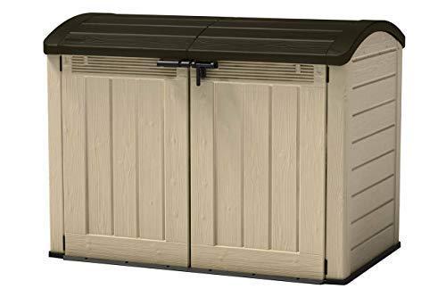 Aufbewahrungsbox XXL mit 2000 Liter - Abmessung (LxBxH): 177 x 113 x 134 cm - Gartengeräteschrank, Abfallbehälter Verwahrung, Fahrradschuppen - wetter- und UV-beständiger Kunststoff