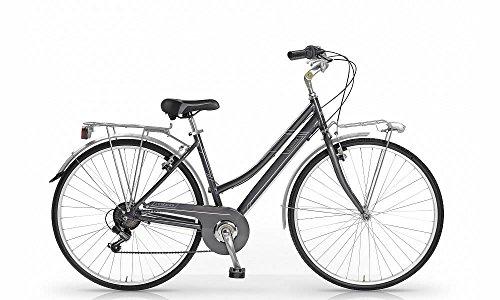 Bicicletta MBM Central da donna telaio in lega di alluminio (Grigio fumo)