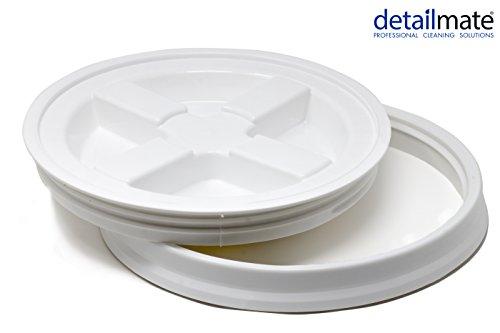 Detailmate GritGuard Gamma Seal emmerdeksel, geschikt voor Grit Guard Wash Buckets emmers, geschikt voor Meguiar wit