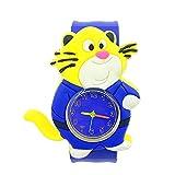 Relojes Relojes para Niños Dinosaurio De Dibujos Animados Animal Reloj para Niños Corchete Círculo Juguetes para Bebés Niños Niñas Reloj Reloj De Regalo Caqui