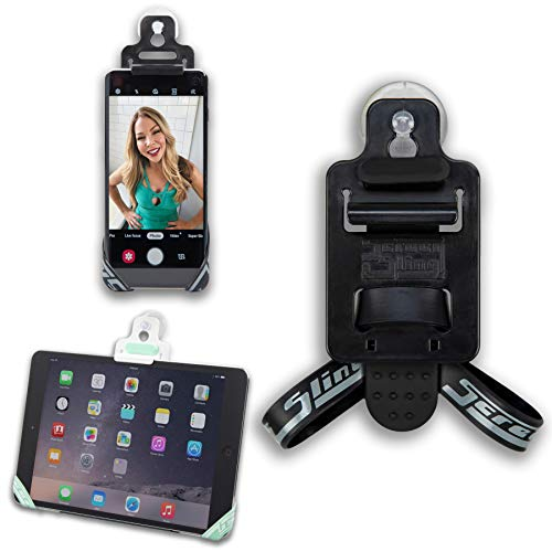 SCREEN SLING Pocket Sized Universal Tablet and Cell Phone Holder for Car - Hands Free Mount Uses Suction or Friction to Fit Backseats, Mirrors, Dashboards and More