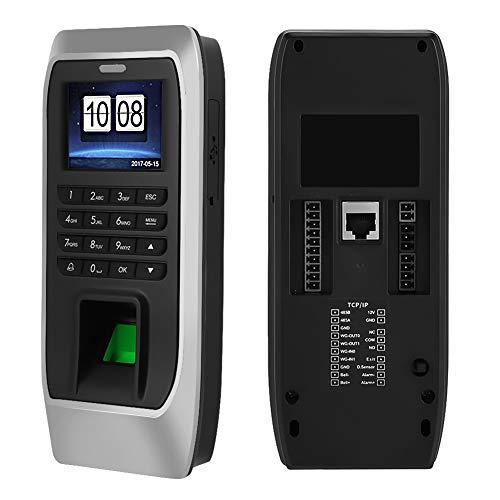 Vingerafdrukherkenningsmachine, 2,4 inch TFT LCD-scherm Intelligente aanwezigheidsklok Biometrische vingerafdruk/wachtwoord/kaart aanwezigheid Presentatiemachine Toegangscontrolesysteem