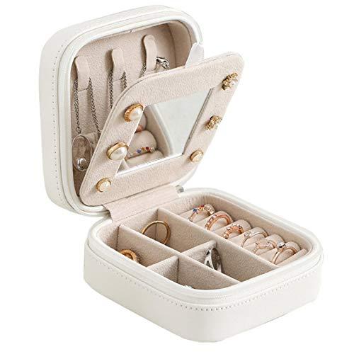NIKEC Joyero de 3 capas, gran capacidad, expositor para pendientes, anillos, pulseras, armario para mujer, cajón de doble cara