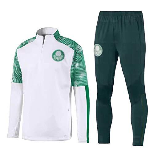 ZHWEI Traje Entrenamiento de fútbol Club de Adulto Camiseta de la Juventud de Manga Larga y Pantalones de Jogging BreathableTop QL0276 Traje Respirable (Color : White+Green, Size : S)