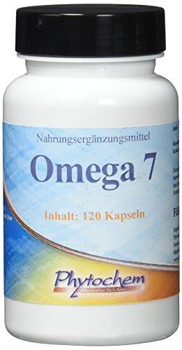 OMEGA 7 | Macademianuss Öl und Reiskeimöl in einer Kapsel | 120 Kapseln | Premium Qualität aus Deutschland