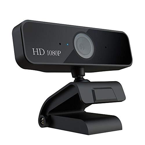 MOGOI Caméra de confidentialité 1080P Full HD Autofocus Webcam pour la Diffusion en Direct Ordinateur Portable PC Bureau Micro Intégré Prise USB Compatible avec Windows Mac