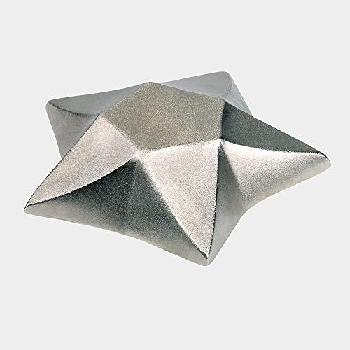 Lambert - Teelichthalter, Kerzenhalter - Aiko - Stern - Alu - vernickelt - Ø 8 cm