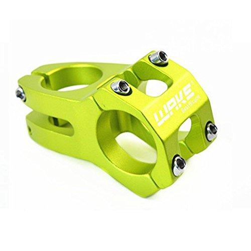 Wake 31.8 Stem 45mm Bike Stem Mountain Bike Stem Short Handlebar Stem for Most Bicycle, Road Bike, MTB, BMX, Fixie Gear, Cycling (Aluminum Alloy, Green)
