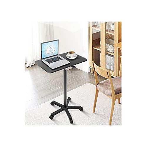 GUOQING Ajustable Mesa de Ordenador Portatil con Ruedas Sofá Mesa Mesas de Centro Mesa Auxiliar de la computadora