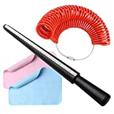 pengxiaomei Ring Sizer Measuring Tool Set, Ring Gauges&Finger Sizer Mandrel with 2 Pieces Polishing Cloth for...