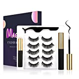 Magnetic Eyelashes with Eyeliner Kit, 5 pairs 3D False Lashes Set, Reusable Lashes, Natural Looking Magnetic Lashes with Applicator- No Glue