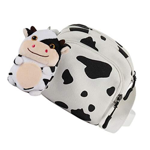 Amosfun Bolso cruzado de lona para el hombro, bolso pequeño para el teléfono, monedero, para niñas, adolescentes, regalo de año nuevo