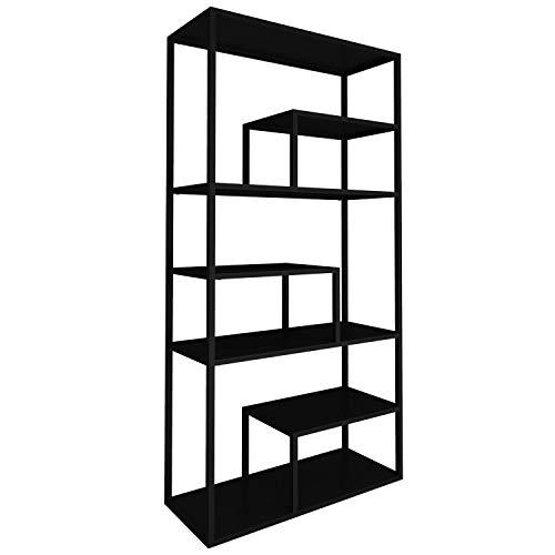 mokebo® Bücherregal 'Der Bücherwurm' aus Metall, auch als Raumteiler Regal & Standregal | 85x188x35 (B/H/T in cm)