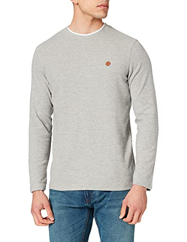 Springfield Polo Manga Larga Camiseta, Gris Medio, M para Hombre
