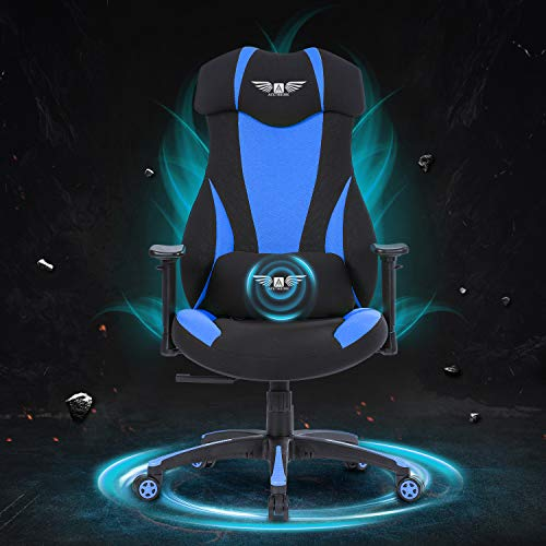 Acethrone Gaming Racing Office Chair with Mesh,Ergonomic Adjustable Swivel Chair Recliner with Lumbar Pillow and Headrest, Mobility Height and Reclining Device High Back Chair for Adults (Blue)