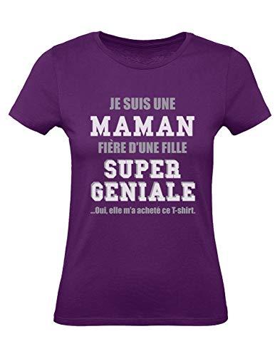 Green Turtle T-Shirts Maman fière d'une Fille Super géniale - Fête des...