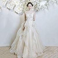 ホームアクセサリースタイリッシュなシンプルな女性のドレス-ノースリーブショールブライダルガウンチューブトップストラップタイプチャーチドレス(白)大