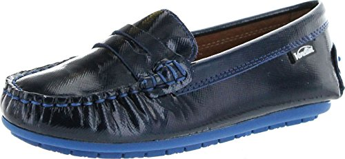 Venettini Girls Savor Fashion Dress Casual Loafers Slip On Moccasins,Navy,23
