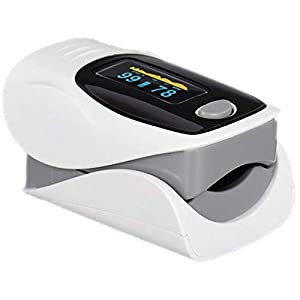 Rontak - Oxímetro de Pulso Digital | Pulsioxímetro de Dedo Profesional | Monitor de Saturación de Oxígeno en Sangre | Frecuencia de Pulso | Medición de SpO2 | Lectura Instantánea con Pantalla OLED
