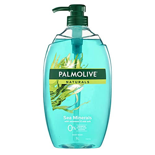Palmolive Naturals Body Wash 1L Hydrating Sea Minerals with Seaweed & Sea Salt, Soap Free Shower Gel, (Pack of 1)