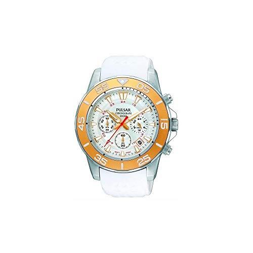 Pulsar PT3133X1 Herren-Armbanduhr, Kautschuk, Weiß/Grau