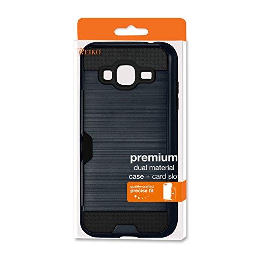 Reiko Slim Armor Hybrid Case for Samsung Galaxy J3 - Retail Packaging - Navy