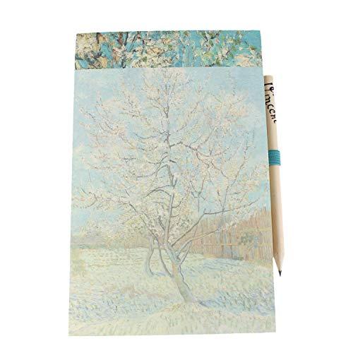 Van Gogh Magnetic Jotter   Bloc de notas magnético para nevera   Regalos   Papelería de oficina   Lista de compras Almohadillas magnéticas   Bloc de notas para hacer   Papelería   Papelería