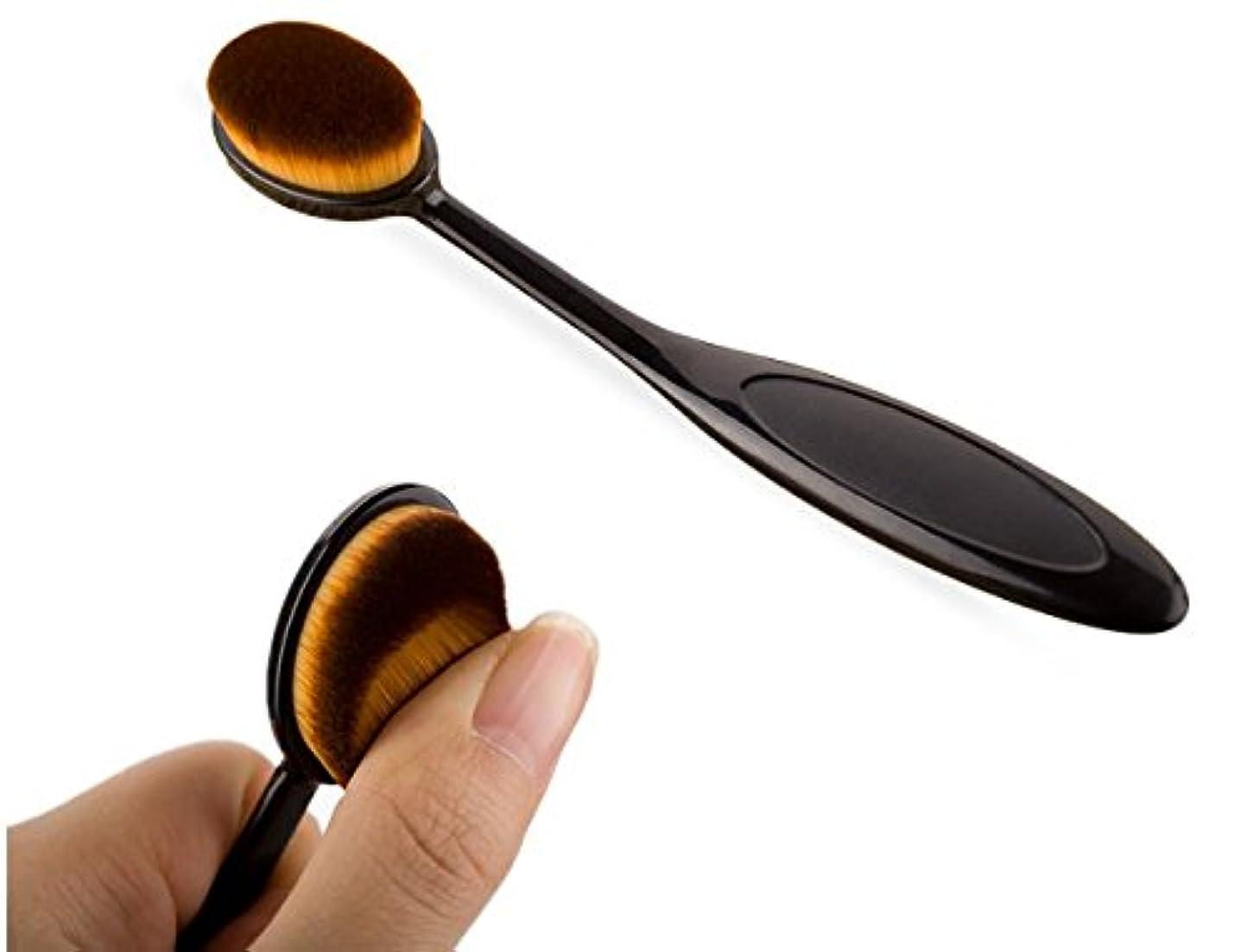 言及する形書誌(ビュティー)Biutee メイクブラシ 歯ブラシ型メイクブラシ  歯ブラシ型ブラッシャーブラシ メイクアップブラシ フェイスパウダーブラシ 化粧 ファンデーションブラシ 家庭用 プロ級用 (黒)