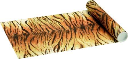 Tisch-Läufer / Tisch-Decke Tiger-Fell / Silvester-Party / Tisch-Dekoration / Tisch-Band / Tisch-Decke / Motto-Party Safari (1 Rolle = 4,80 Meter)