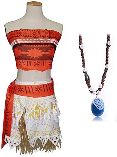 Inception Pro Infinite Disfraz completo – Incluye collar de Vaiana Moana – Niña – Carnaval – Halloween – Disfraz – Cosplay – Talla 120