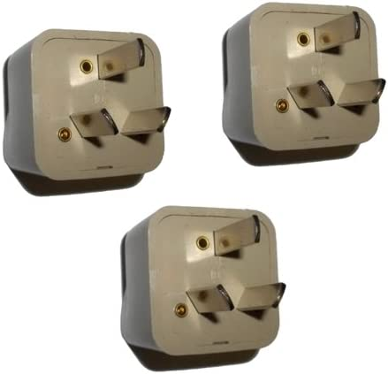 HQRP 3 Pack AC Adaptor Converts USA to AU (Australia) Outlet Travel Plug Adapter