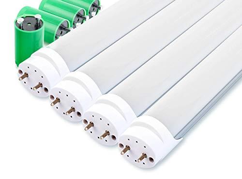 4er Set Showlite LED Röhre 150cm (1500mm Leuchtstoffröhre, T8 G13, 2300 Lumen, 4500 Kelvin, Tageslichtweiß, Leistung: 24W)