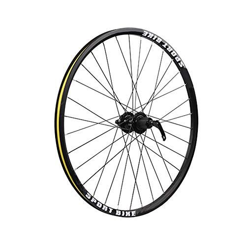 JJZD 26 Inch Wheel Mountain Bike Front and Rear Single Wheel Hub Self-Made Wheel Disc Brakes Support 7,8,9,10,11 Speed Cassette Flywheel Disc Brake Wheel Set (Size : Front Wheel)