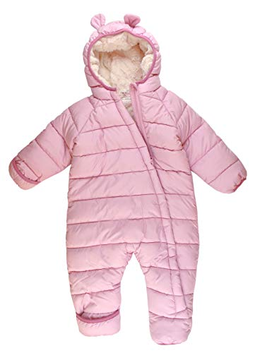 Pocopiano Baby Winteroverall Winteranzug Schneeanzug Mädchen Rosa 62/68