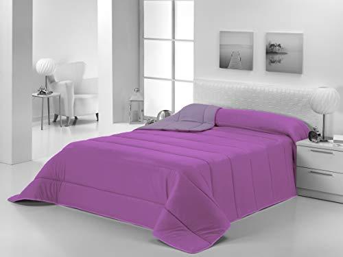 Energy Colors - Textil hogar - Estonia - Edredón Nórdico Colcha Bicolor Duvet Reversible 350/400 g Fibra Hueca Alta Densidad (Morado - Malva, 240_x_260_cm(Cama 150 y 135))